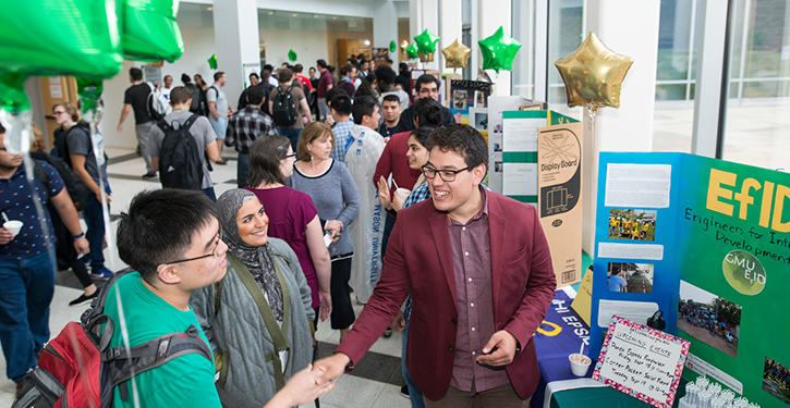 Joining a student organization will enrich your college experience. Mason Engineering has more than 20 unique student organizations that allow you to do everything from helping K-12 STEM educators to programming robots.